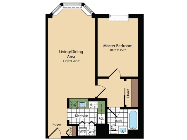 Floor Plan 17 | Apartments For Rent In North Bergen NJ | Half Moon Harbour Apartments