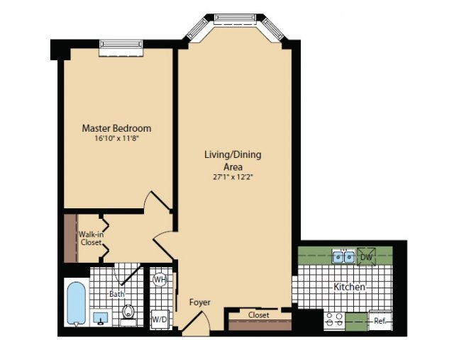 Floor Plan 18 | Apartments For Rent In North Bergen NJ | Half Moon Harbour Apartments