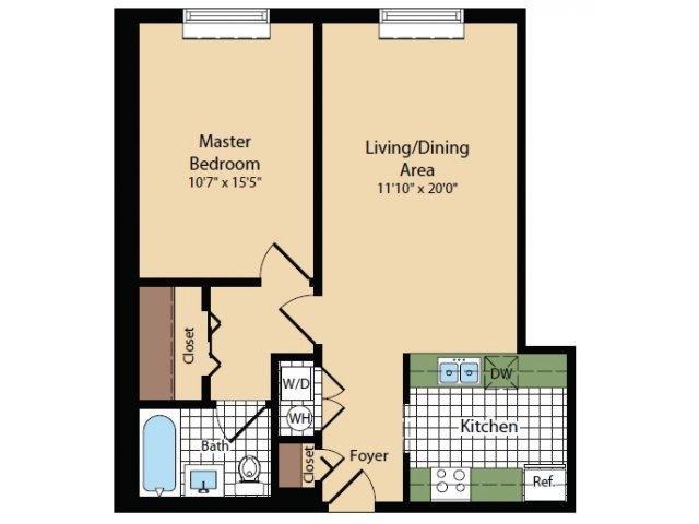 Floor Plan 19   Apartments For Rent In North Bergen NJ   Half Moon Harbour Apartments