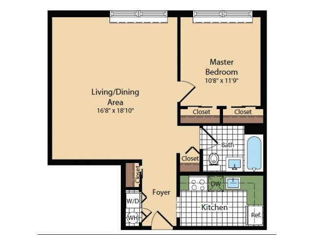 Floor Plan 20 | Apartments For Rent In North Bergen NJ | Half Moon Harbour Apartments