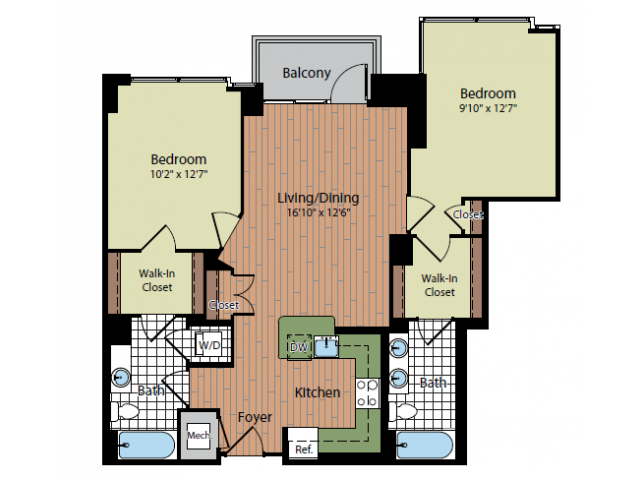 Floor Plan 6 | Parc Meridian at Eisenhower Station 4