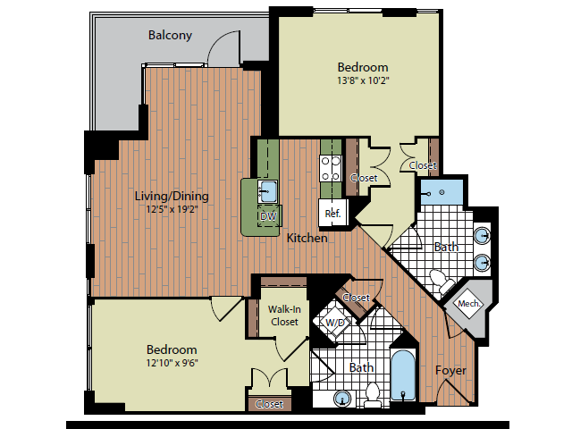 Floor Plan 3 | Parc Meridian at Eisenhower Station 5