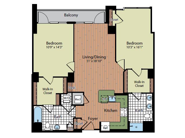 Floor Plan 6   Parc Meridian at Eisenhower Station 5