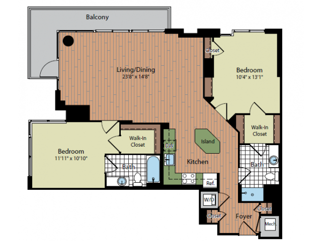Floor Plan | Parc Meridian at Eisenhower Station 6