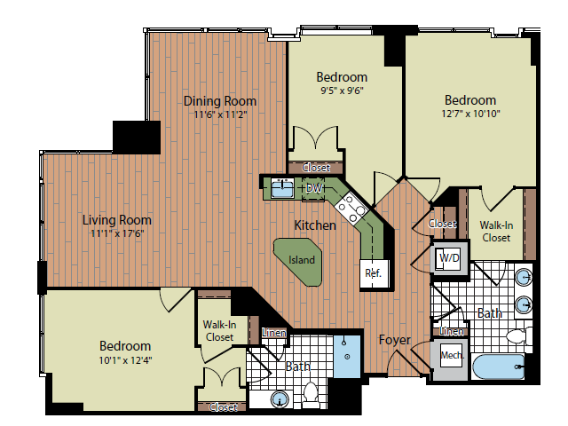 Floor Plan 3 | Parc Meridian at Eisenhower Station 7