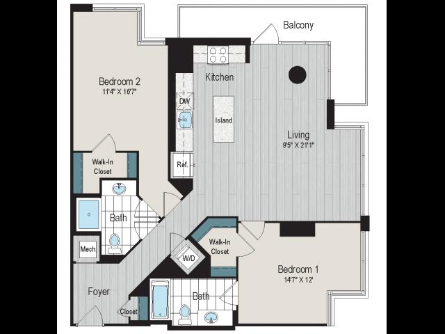 2B1c floorplan