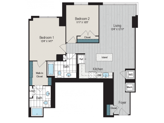 2B2 Floorplan