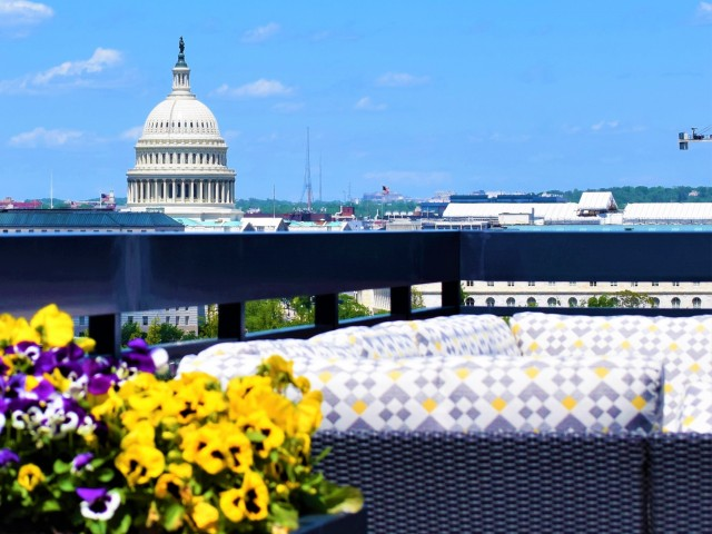 Rooftop Lounge With Incredible Capitol Views