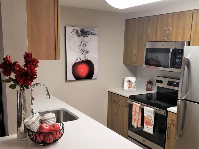 Unique One Bedroom Floor Plan- Kitchen photo