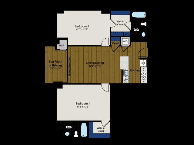 Floor Plan 4 | Meridian at Braddock Station