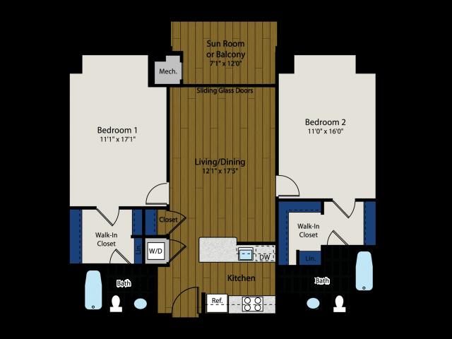 Floor Plan 5   Meridian at Braddock Station