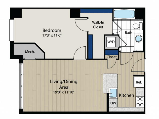 Floor Plan | Meridian at Gallery Place 4