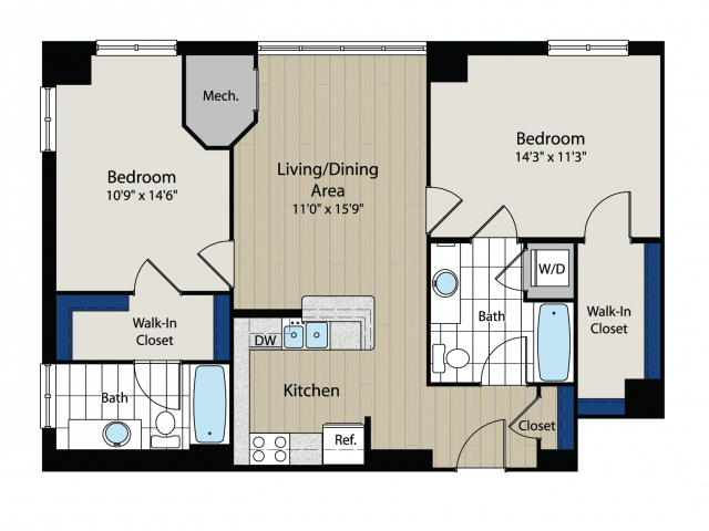 Floor Plan 6 | Meridian at Gallery Place 5