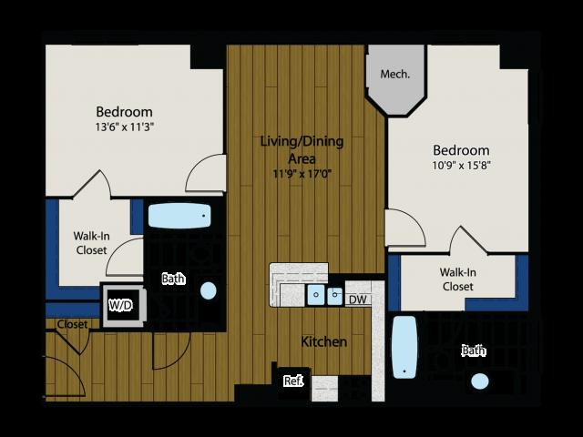 Floor Plan 6 | Meridian at Gallery Place 6