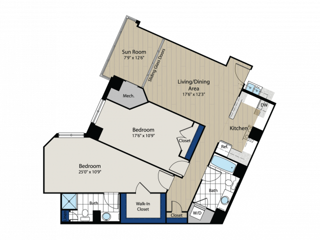 Floor Plan 2 | Meridian at Gallery Place 6