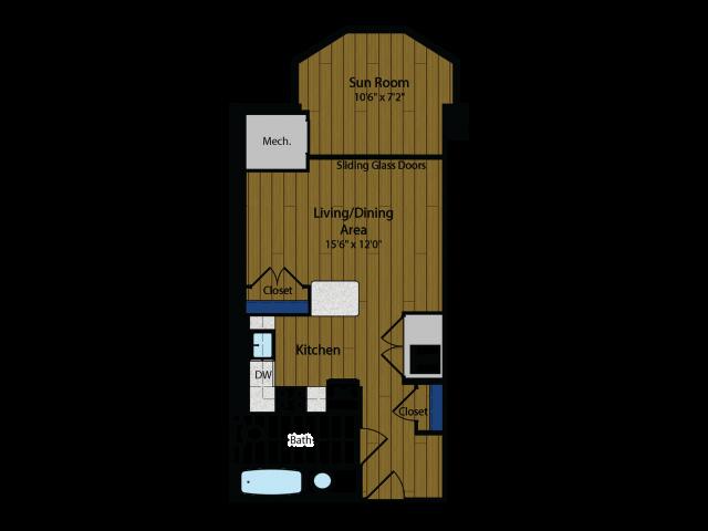Floor Plan 5 | Meridian at Gallery Place
