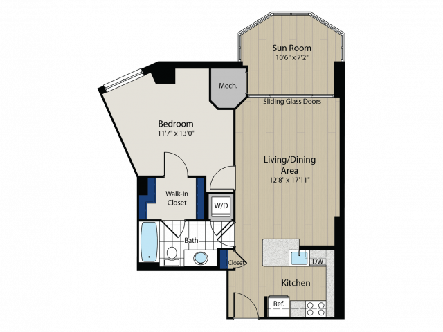 Floor Plan 3 | Meridian at Gallery Place 2