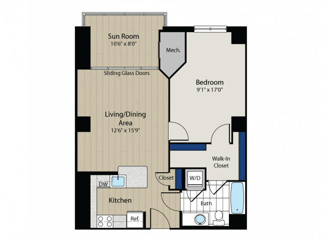 Floor Plan 5 | Meridian at Gallery Place 2