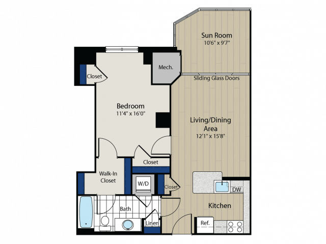 Floor Plan 3 | Meridian at Gallery Place 3