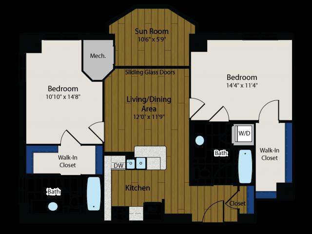 Floor Plan 2 | Meridian at Gallery Place 4