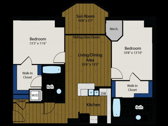 Floor Plan 5 | Meridian at Gallery Place 4