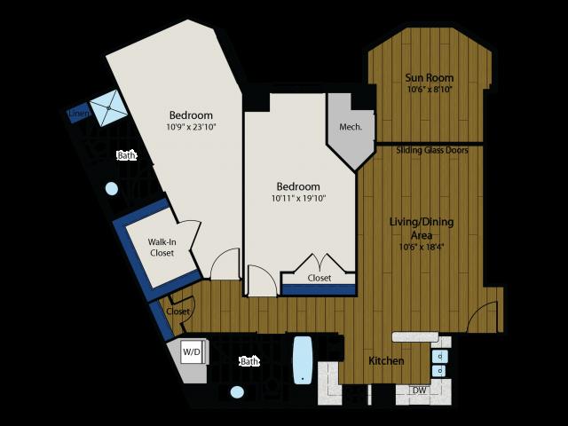 Floor Plan 3 | Meridian at Gallery Place 5