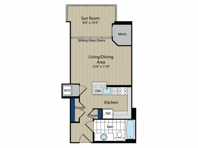 Floor Plan 4 | Meridian at Gallery Place