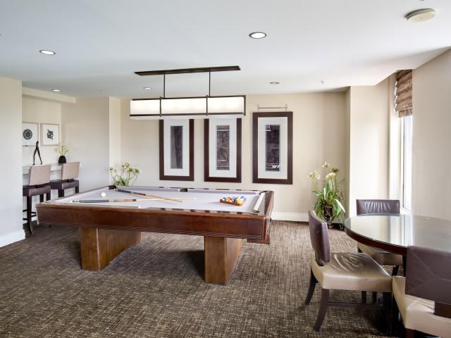 Club Room With Billiards