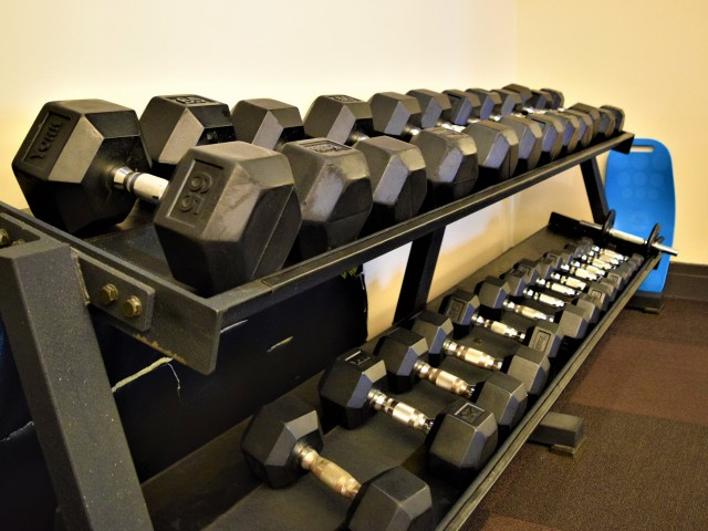 Free Weights | Carlyle Place | Luxury Alexandria Apartments