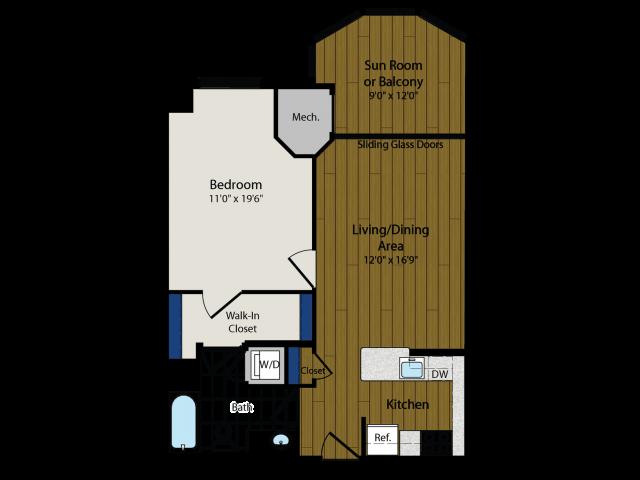 Floor Plan 9 | Luxury Apartments In Arlington VA | Meridian at Ballston Commons