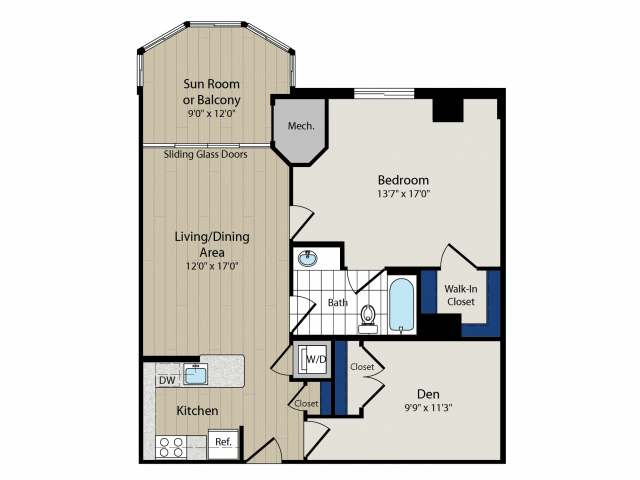 Floor Plan 10 | Luxury Apartments In Arlington VA | Meridian at Ballston Commons