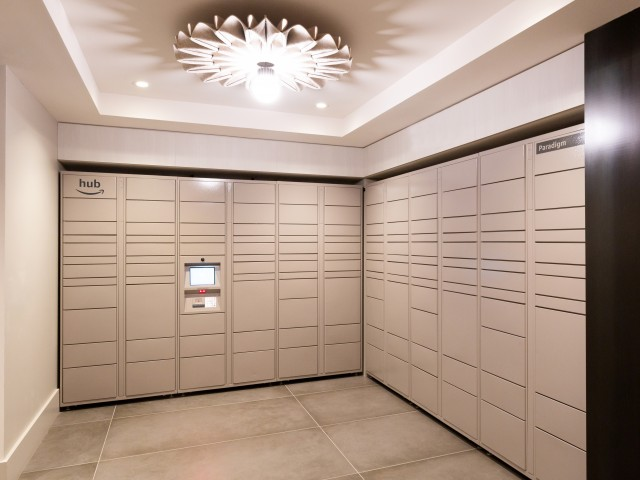 Amazon Lockers | Meridian on First | Luxury Navy Yard Apartments | Washington DC Apartments