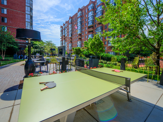 Photo of outdoor ping pong table