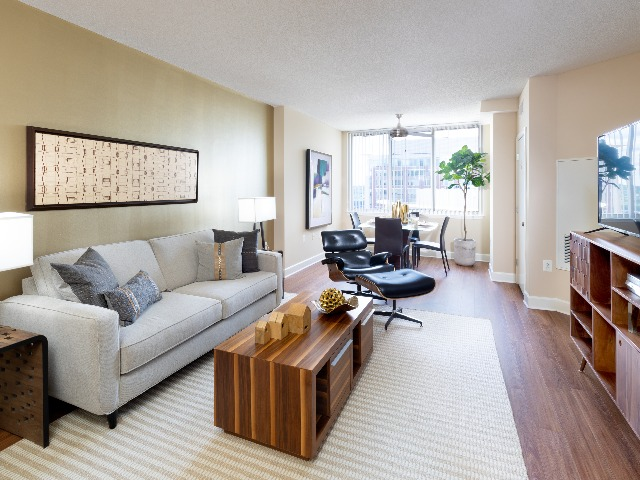 Photo of an Apartment Living Room | Meridian at Eisenhower Station |