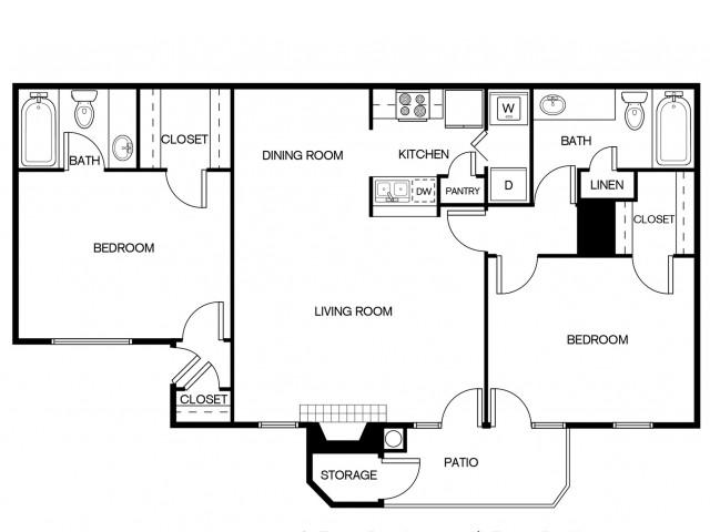 B2BR Floor Plan