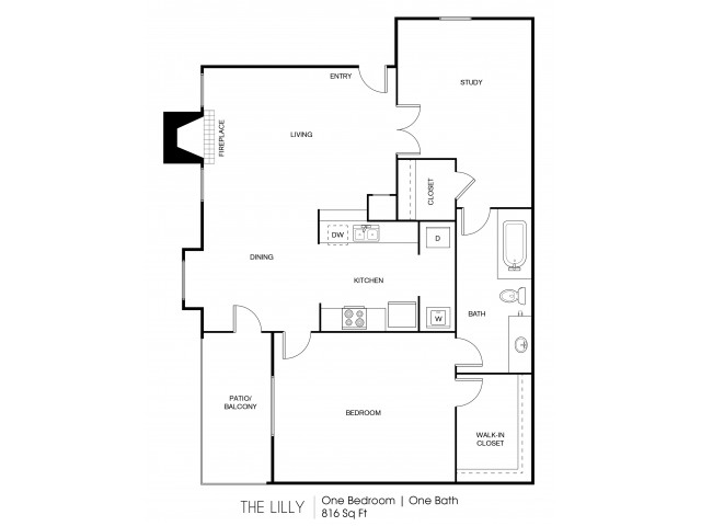 The Lilly One Bedroom One Bath
