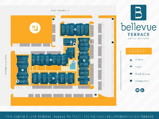 Bellevue Terrace Site Map