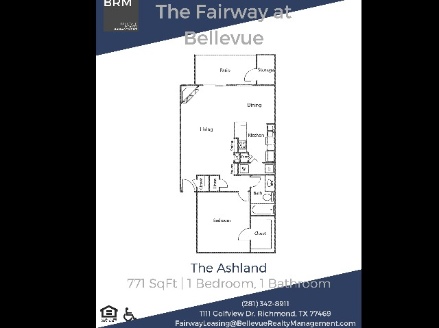The Ashland - 1 Bedroom   1 Bath 711 Sq Ft