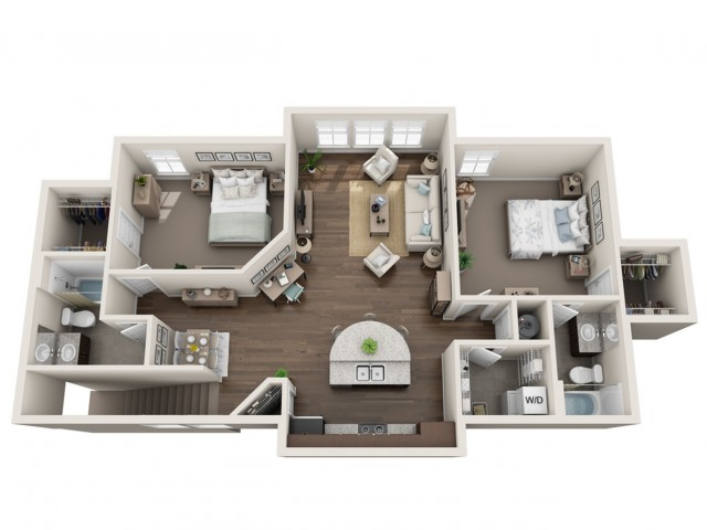 Two Bed Two Bath_1311 sqft