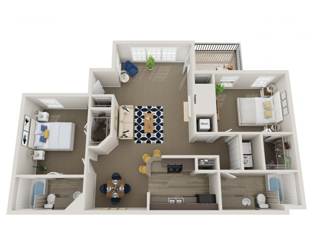 2_Bedroom_2_Bath - 1125_sqft.
