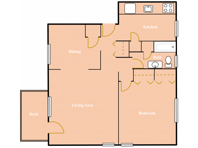 One Bedroom 750 Sq Ft