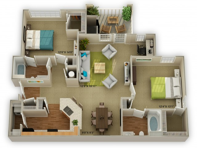 Image of the Brookstone Floor Plan