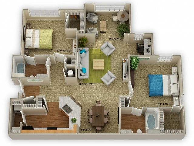 Image of The Brookstone with Sunroom Floor Plan