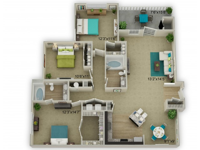 Image of The Legend with Porch Floor Plan
