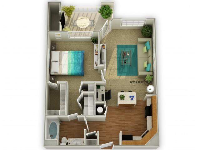 Photo of The Meadowview One Bedroom Floor Plan