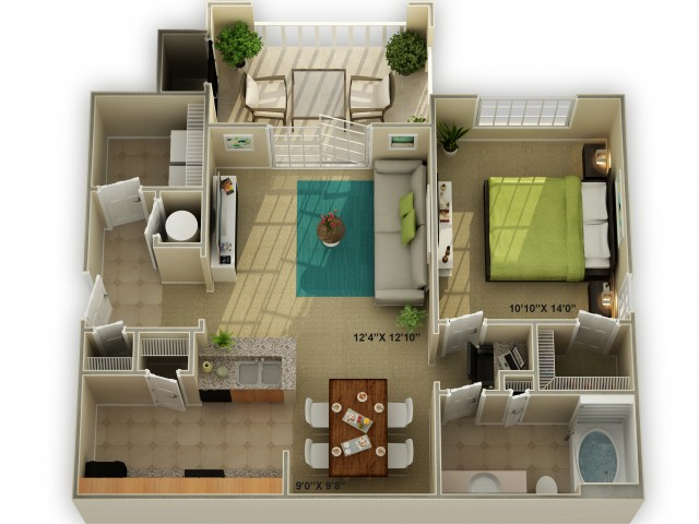 Photo of The Ridgecrest One Bedroom Floor Plan