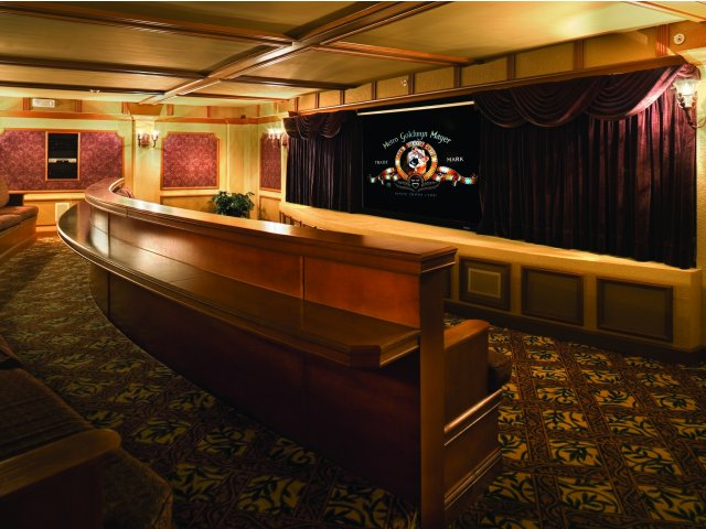 Camino Real, interior, private movie theater,, authentic theater style
