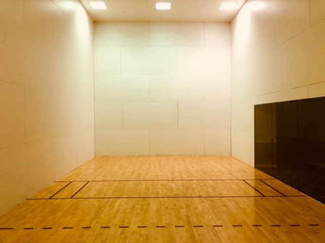 Camino Real, interior, racquetball court