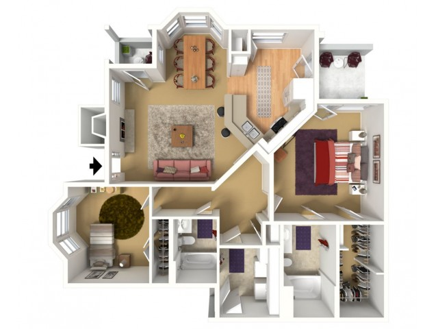 1127 sq. ft. with 2 car garage