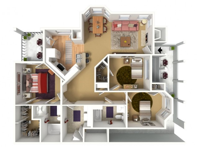 1235 sq. ft. 3BED with 2 car garage